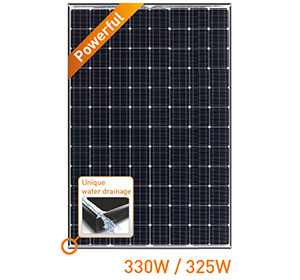 Panasonic HIT Power N330SA16 330W Mono BLK/WHT Solar Panel
